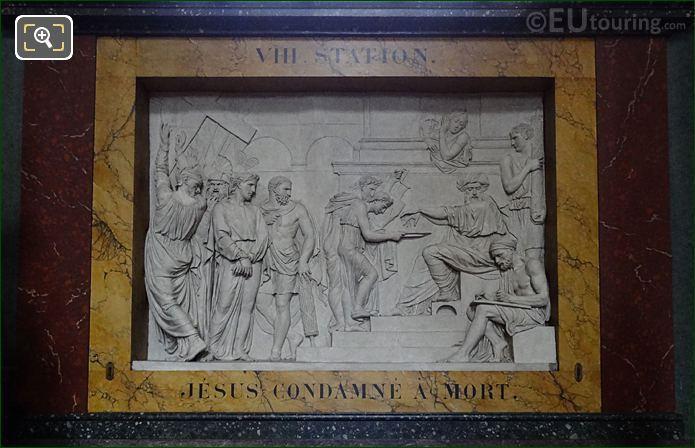 Jesus Condamne A Mort Sculpture In Chapelle Sainte Catherine At Eglise Saint-Roch