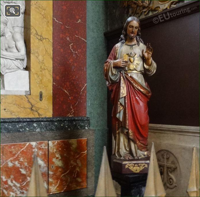 Saint Margaret Mary Alacoque Statue In Eglise Saint-Roch
