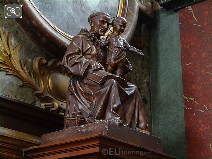 Saint Anthony Of Padua Statue By French Artist Auguste Coutin