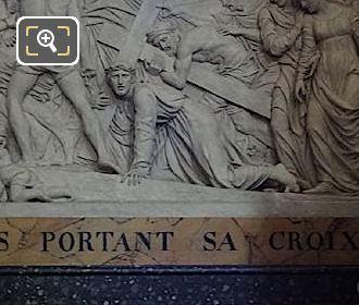 Iesvs Portant Sa Croix Inscription By Artist Louis Pierre Deseine