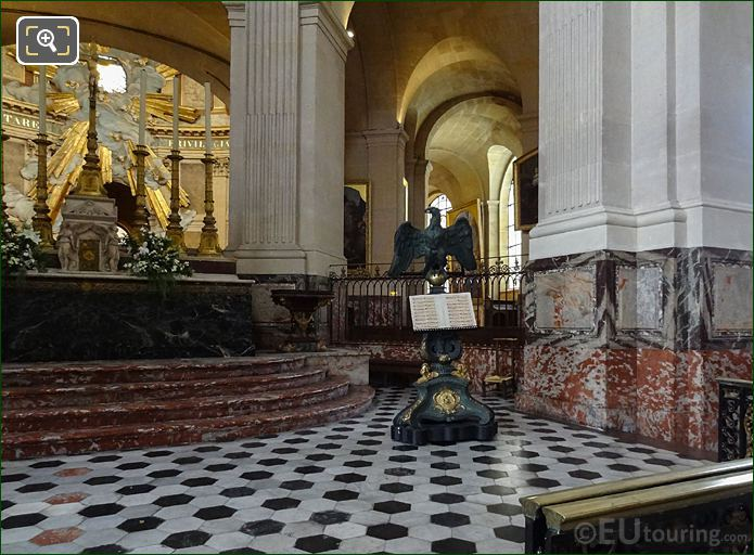 Music Lectern And Eagle Statue In Alter Area