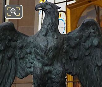 Sculpted Eagle Statue Inside The Eglise Saint-Roch