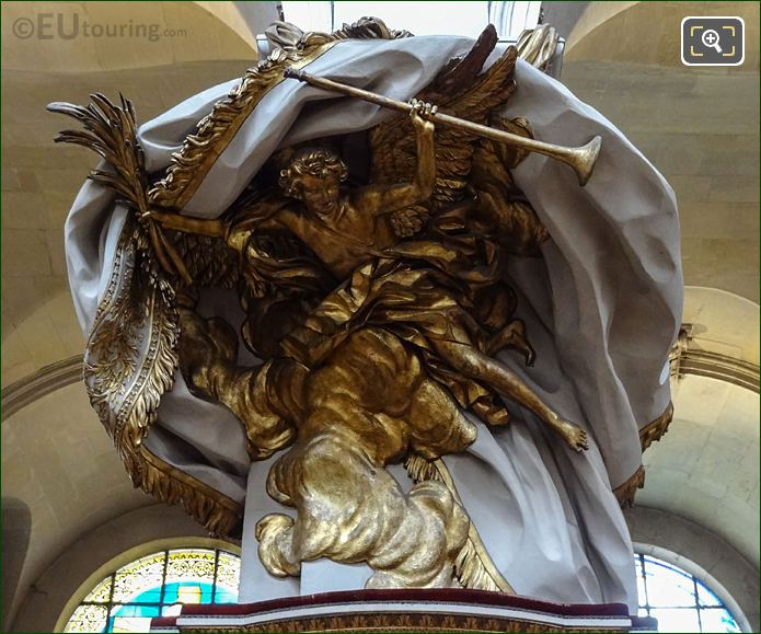 Gilded L'Abat-son Sculpture Inside Eglise Saint-Roch