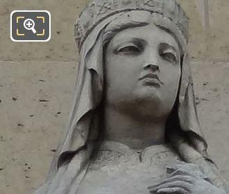 Sainte Clotilde Statue By French Sculptor Pierre Loison