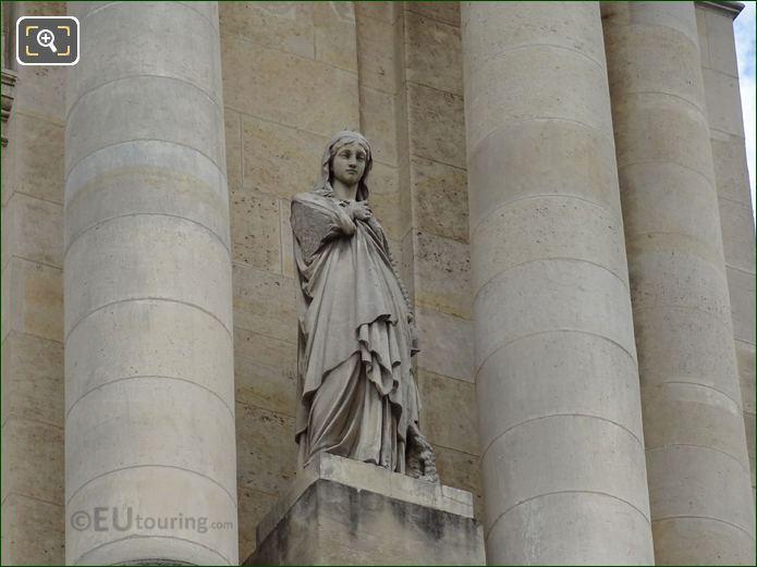 Sainte Genevieve Statue Located On Eglise Saint-Roch