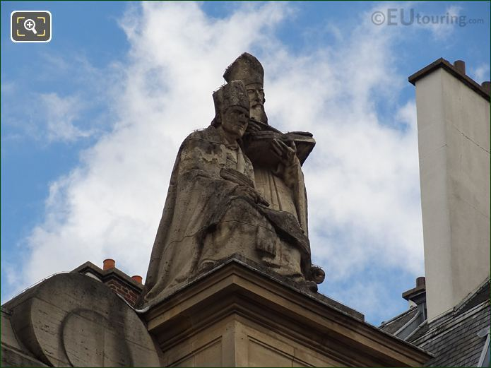 Fathers Of The Church Statues On Eglise Saint-Roch