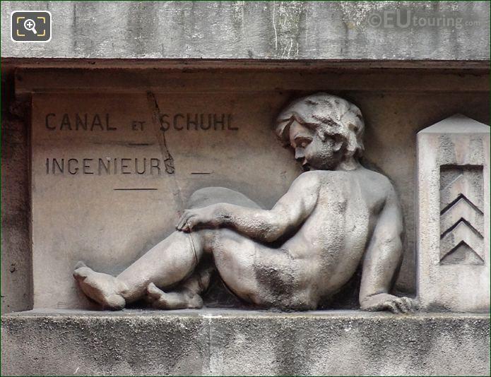 Left Hand Side Sculptured Cherub At 280 Rue Saint Honore