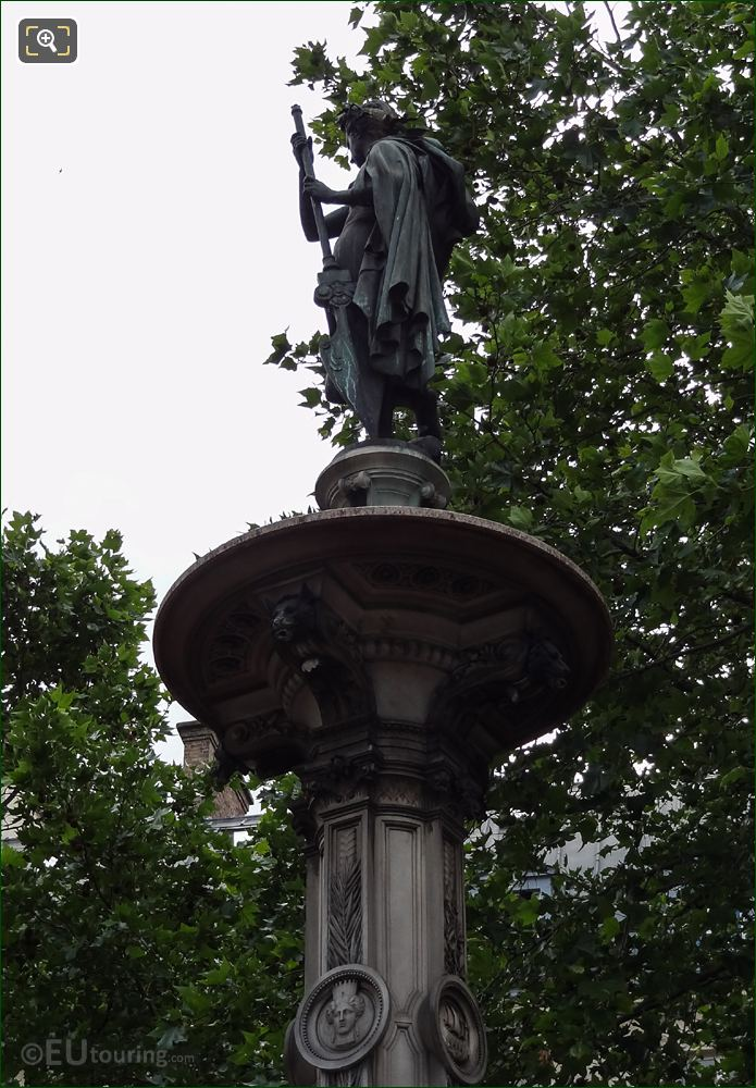 Left Hand Side Of Nymphe Marine Statue On Fontaine Du Theatre-Francais