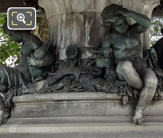 Bronze Children Statues Inside Place Andre-Malraux