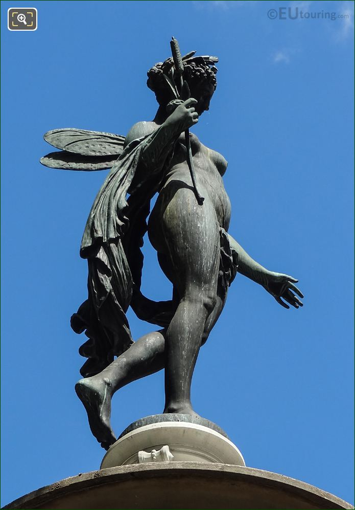 Nymphe Fluviale Statue By French Sculptor Mathurin Moreau