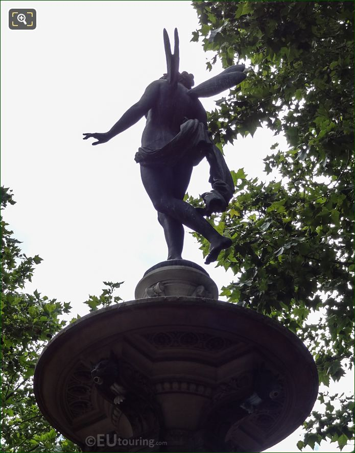 Left Hand Side Of Nymphe Fluviale Statue