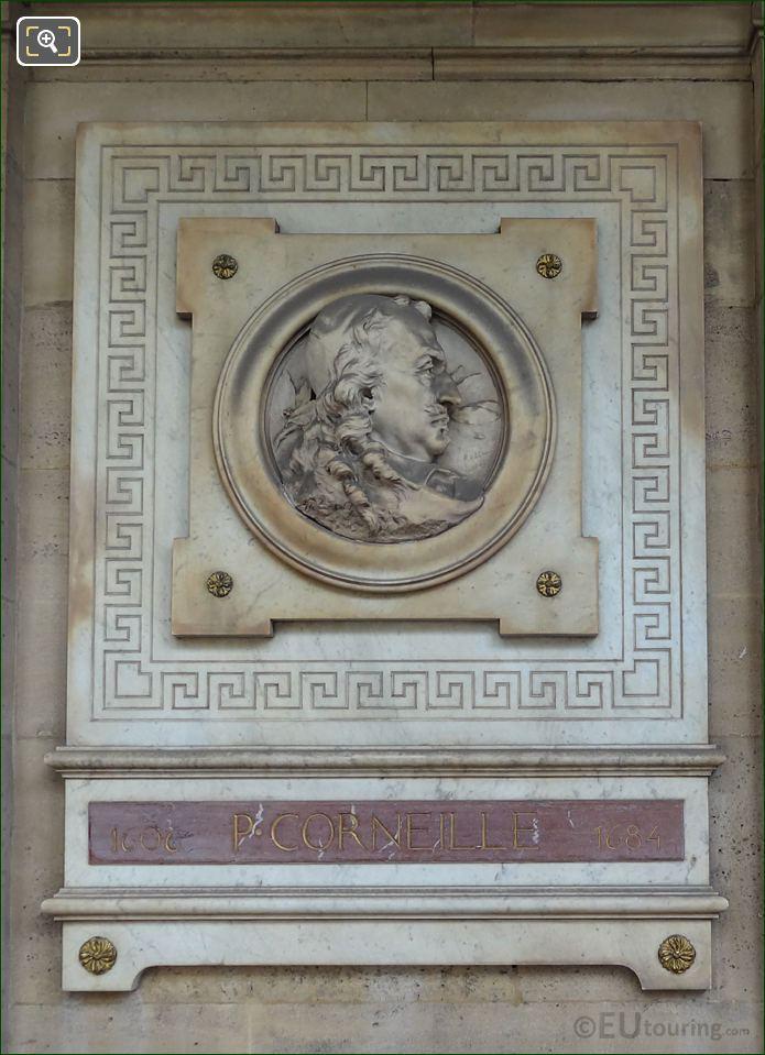 Pierre Corneille Sculpture On Comedie Francaise In Paris