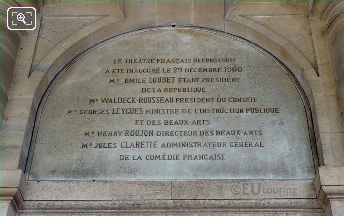 Inscription Above The Jean Racine Sculpture