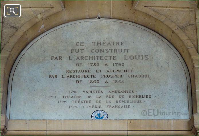Inscription Above Victor Hugo Sculpture