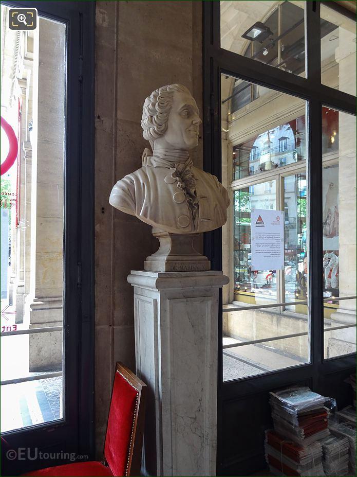 Comedie Francaise Foyer With Pierre Carlet De Chamblain De Marivaux Bust
