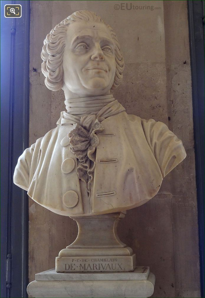 Pierre Carlet De Chamblain De Marivaux Bust Inside Comedie Francaise