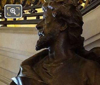 Left Hand Side Of Jean Mounet-Sully Bronze Bust