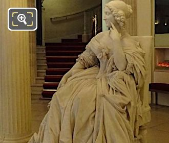 Left Hand Side Of Mademoiselle Mars Statue In Comedie Francaise