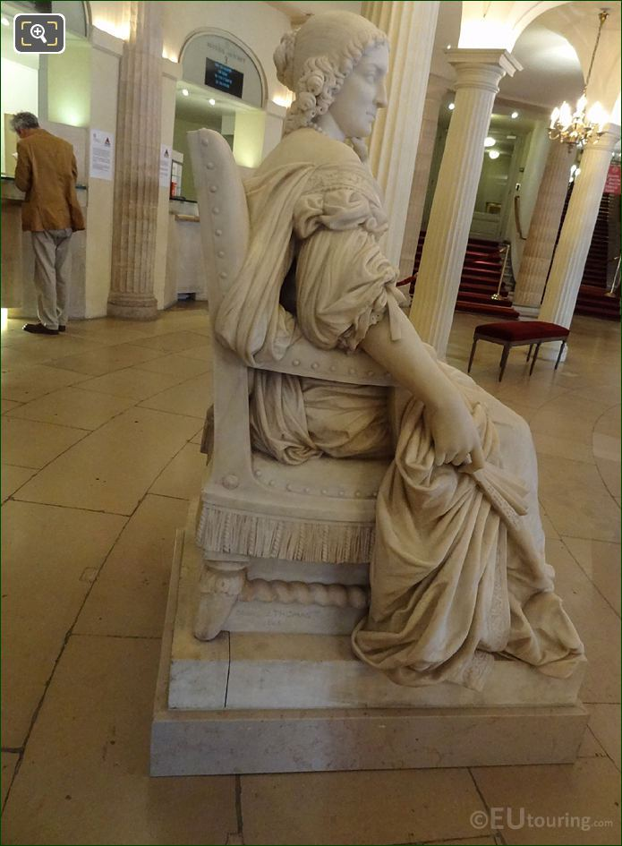 Right Hand Side Of Mademoiselle Mars Statue In Comedie Francaise