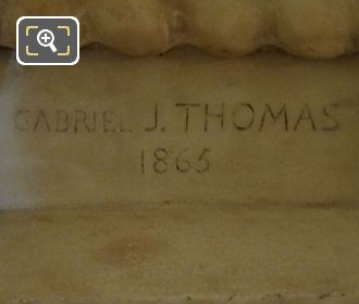 Gabriel J Thomas 1863 Inscription On The Mademoiselle Mars Statue