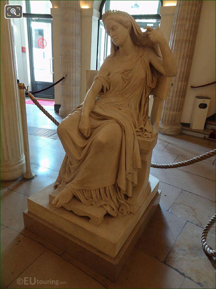 Comedie Francaise Elisa Felix Or Rachel Statue