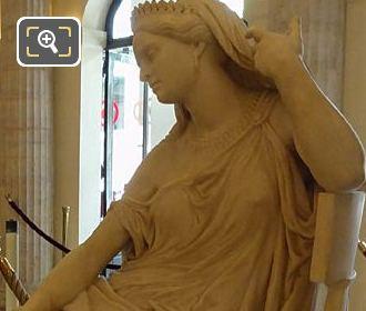 Left Hand Side Of Rachel Statue Inside Comedie Francaise