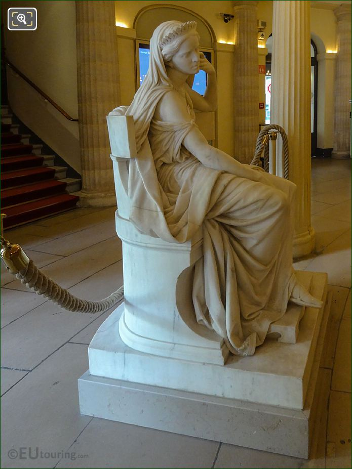Right Hand Side Of The Rachel Statue Inside Comedie Francaise