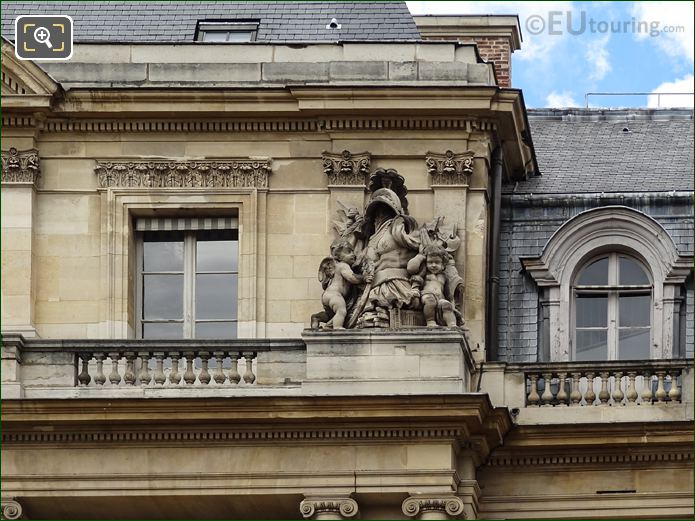 Palais Royal Central Pavilion South Facade With Right Hand Side Trophee Sculpture