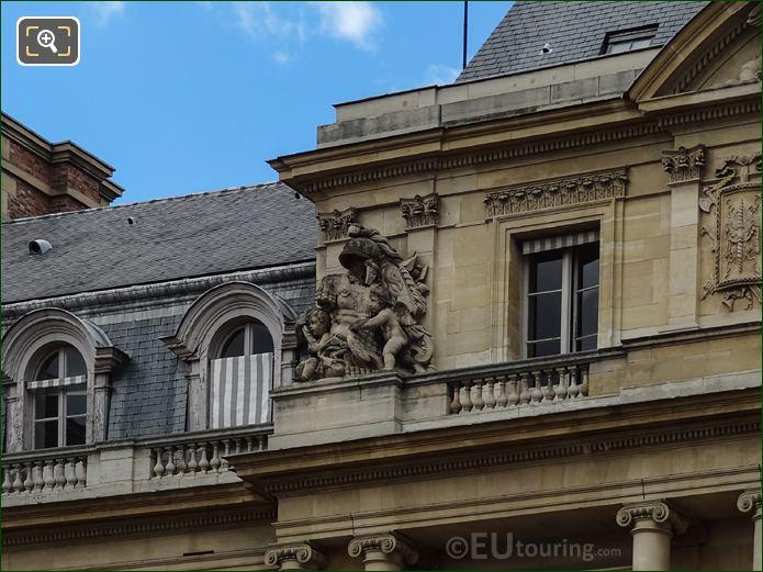 Palais Royal Central Pavilion South Facade With Left Hand Side Trophee Sculpture