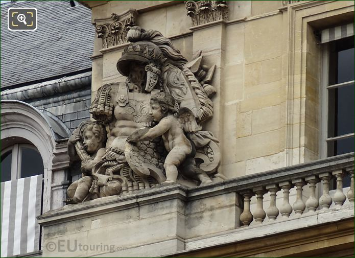 Central Pavilion Left Hand Side Trophee Sculpture On Palais Royal