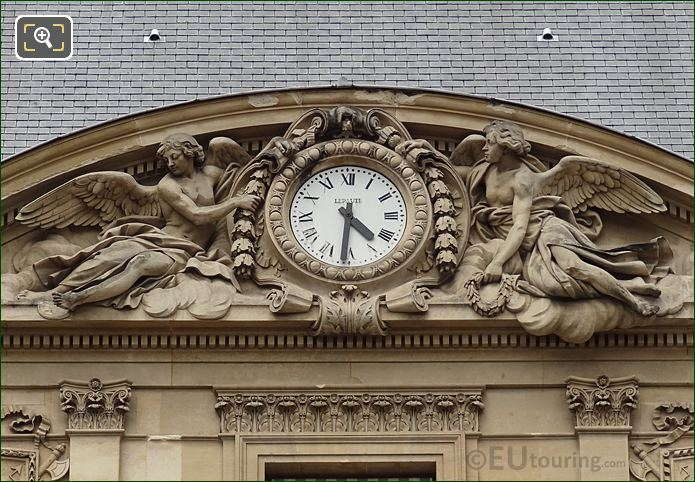 Clock Pediment Sculpture By French Sculptor Augustin Pajou