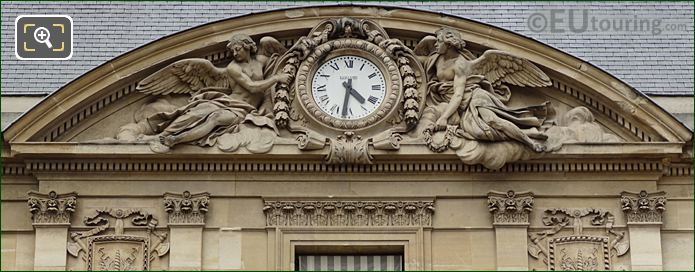 Clock Pediment Sculpture On Palais Royal