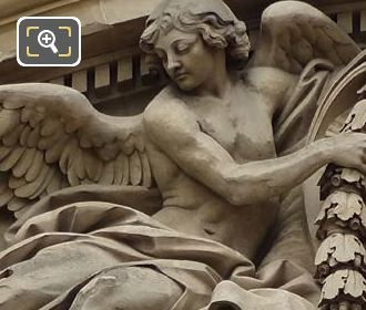 Left Hand Side Allegorical Figure Of Clock Pediment Sculpture On Palais Royal
