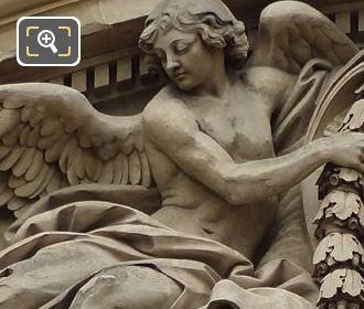 Left Hand Side Allegorical Figure Of Clock Pediment Sculpture On Palais Royal