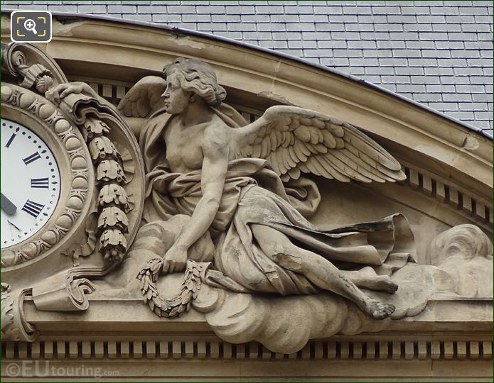 Right Hand Side Allegorical Figure Of Clock Pediment Sculpture On Palais Royal