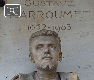 Gustave Larroumet Statue With 1852-1903 Birth And Death Inscription