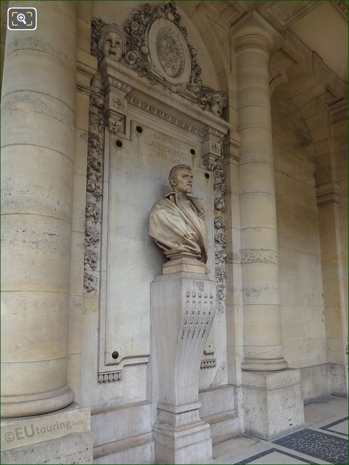Right Hand Side Of Gustave Larroumet Statue At Palais Royal