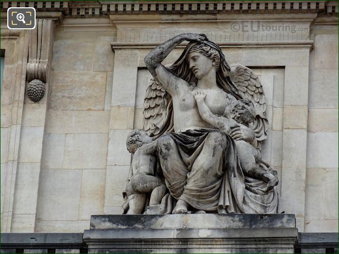Le Commerce Statue At Palais Royal Paris