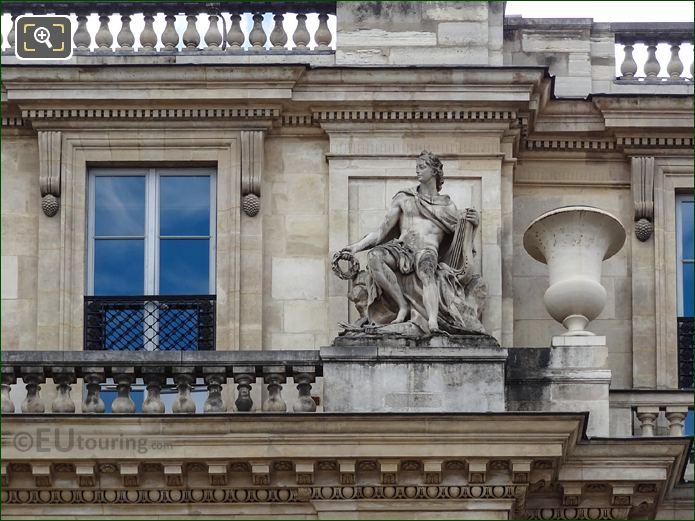 The Apollon Statue On Palais Royal Balustrade