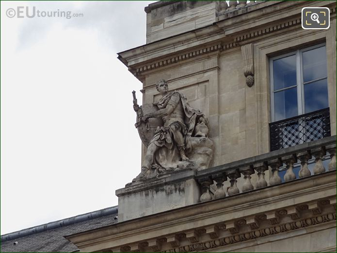 God Of War Statue On Palais Royal Balustrade