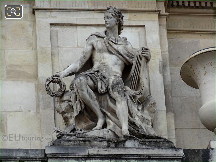 God Apollo Statue At Palais Royal Paris