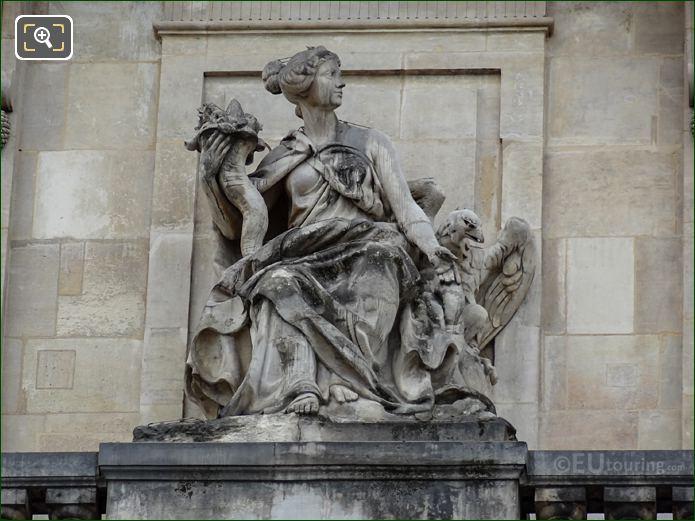 La Liberalite Statue At Palais Royal Paris