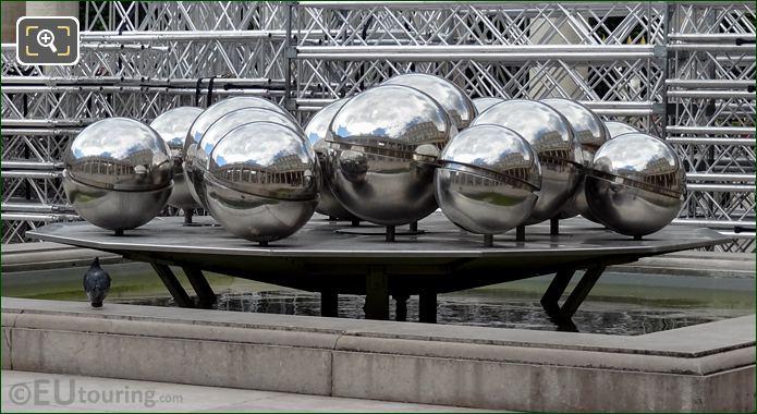 Mirror Ball Fountain Sculpture At Palais Royal Paris