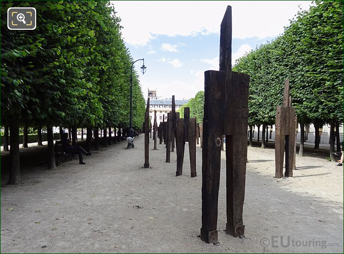 Wooden Contemporary Art Exhibition L'Homme Debout At Palais Royal