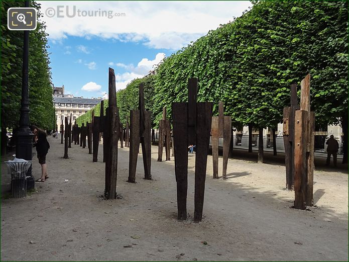 The Man Standing Art Exhibition Within Palais Royal Gardens