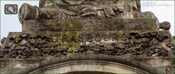 Strasbourg Inscription On Statue Stone Base