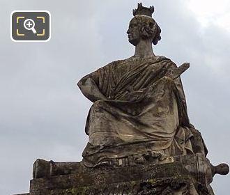 Front Of Stone Strasbourg Statue At Place De La Concorde
