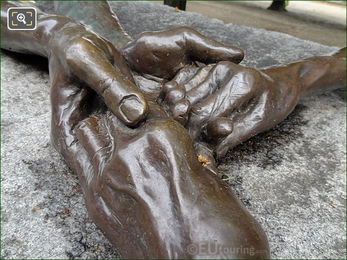 Clasping Hands From The Welcoming Hands