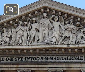 Eglise De La Madeleine Pediment Latin Dedication
