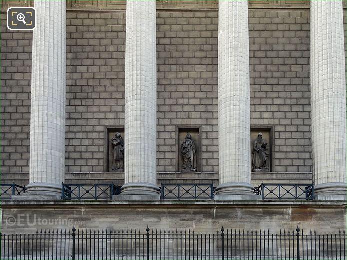 West Facade Eglise Madeleine Saint Jerome Statue